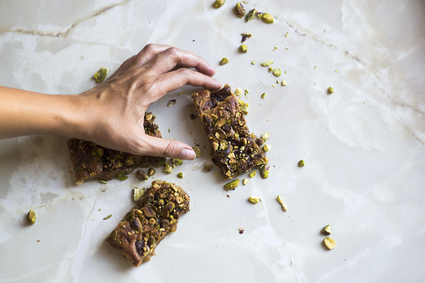 Pistachio Cookie Bars