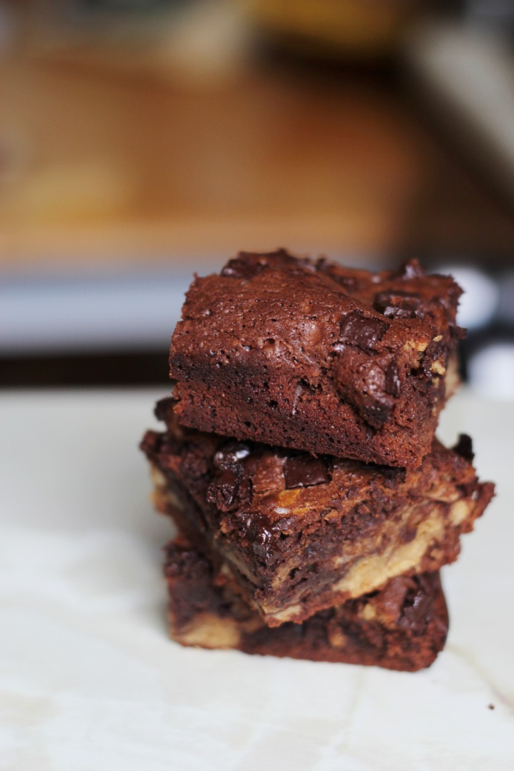 Cashew Butter Double Chocolate Brownies
